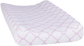 Trend Lab Lilac Orchid Bloom Quatrefoil Changing Pad Cover