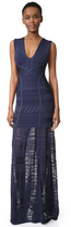 Herve Leger Miriam Sleeveless Gown