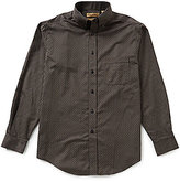 Roundtree & Yorke Gold Label Big & Tall Checked Non-Iron Dobby Perfect Performance Sportshirt