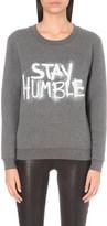 Claudie Pierlot Tribute spray-print jersey sweatshirt