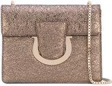 Salvatore Ferragamo metallic Gancio clutch - women - Leather - One Size