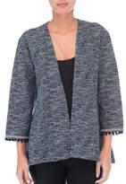 B Collection by Bobeau Pom-Pom Fringe Kimono Jacket