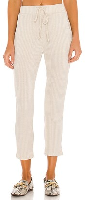 Mina Lisa Ribbed Knit Tassel Pant