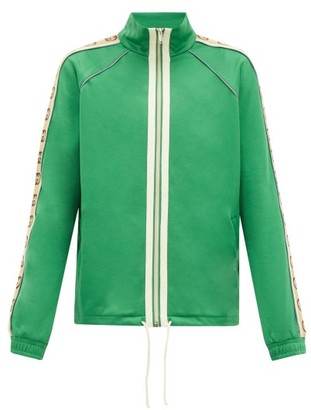 Gucci GG-jacquard Side-stripe Technical Track Jacket - Green