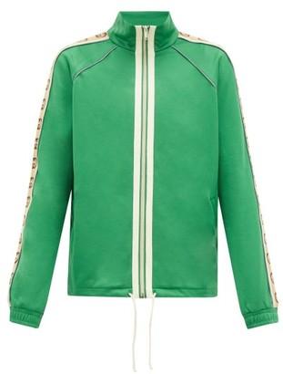 Gucci GG-jacquard Side-stripe Technical Track Jacket - Mens - Green