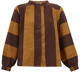 Ace&Jig Barret Striped Cotton Blouse - Womens - Brown Multi