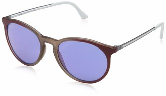 Ray-Ban Men's 0rb4274 Non-Polarized Iridium Round Sunglasses Gradient Bordeaux/Rubber LITE Brown 52.8 mm