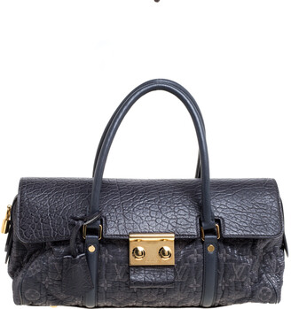 Louis Vuitton Navy Blue Gris Monogram Limited Edition Volupte Beaute Bag