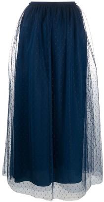 RED Valentino Point D'esprit Tulle Midi Skirt
