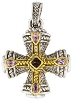 Judith Ripka Diamond, Smoky Quartz & Crystal Cross Pendant