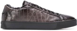 Santoni croc-effect low top sneakers
