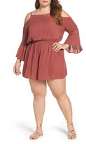 Glamorous Plus Size Women's Cold Shoulder Romper