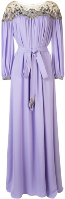 Marchesa Embellished Kaftan Gown