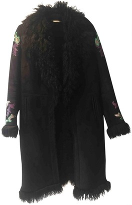 Roberto Cavalli Black Fur Coat for Women