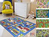Handcraft Rugs-City Streets Kids Non-Slip Rugs Blue and Multi / Kids Carpet Play mat Rug City Life Great for Playing with Cars and Toys-5 ft. by 7 ft.