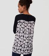 LOFT Maternity Gardenia Back Mixed Media Sweater