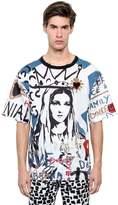 Dolce & Gabbana Madonna Printed Cotton Poplin T-Shirt