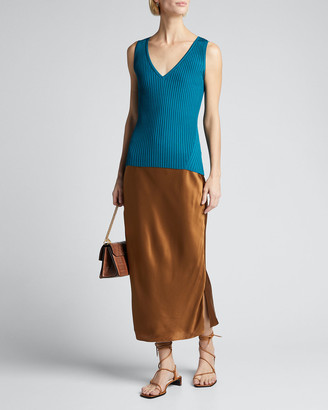 Diane von Furstenberg Calio Ribbed Sleeveless Top