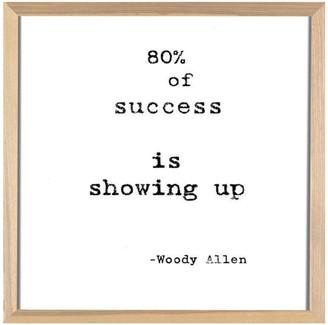 Arte Maison Famous Quotes: Woody Allen Framed Artwork