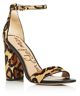 Sam Edelman Women's Yaro Animal Print High-Heel Sandals
