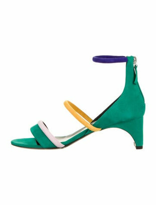 Pierre Hardy Suede Sandals Green