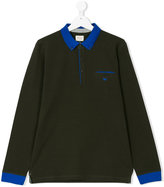 Armani Junior polo shirt with contrast trim
