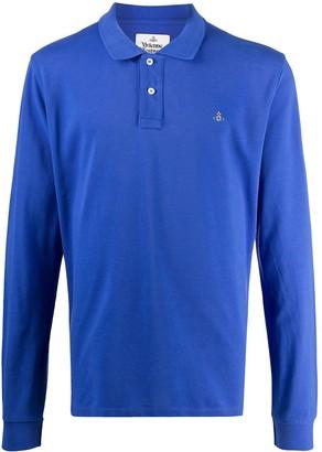 Vivienne Westwood Long Sleeve Cotton Polo Shirt