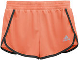 adidas Contrast-Trim Knit Shorts - Girls 7-16