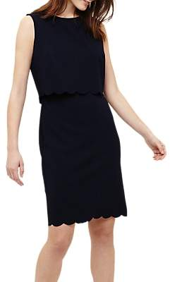 Phase Eight Saffron Scallop Dress, Navy