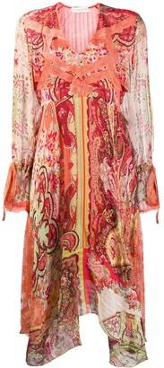 Etro Scarf Print Midi Dress