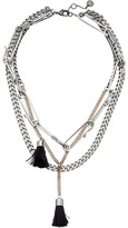 French Connection Multi Row w/ Tassels Necklace