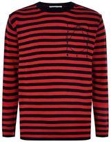 McQ Striped Wool-Cashmere Jumper