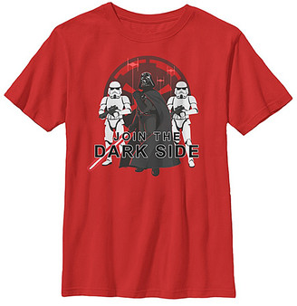 Fifth Sun Boys' Tee Shirts RED - Star Wars Red 'Join the Dark Side' Vader & Troopers Tee - Boys
