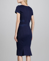 Zac Posen Short-Sleeve Scoop-Neck Cocktail Dress