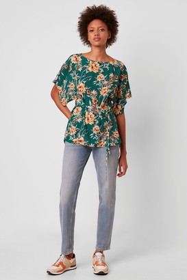 French Connection Claribel Floral Short Sleeve Belted Top