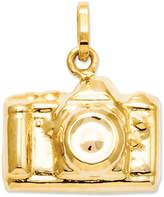 Macy's 14k Gold Charm, Camera Charm
