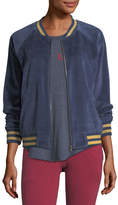 Spiritual Gangster Beautiful Dreamer Velour Bomber Jacket