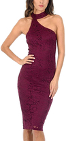 AX Paris Plum Lace Asymmetrical Dress
