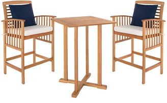Safavieh Pate 3 Pc Bar 39.8In Table Bistro Set