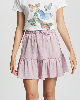 All About Eve Women's Mini skirts - Sprinkle Mini Tiered Skirt - Size One Size, 8 at The Iconic