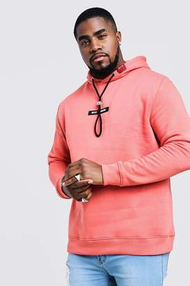 Big & Tall MAN Branded Hoodie With Back Print