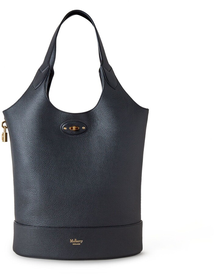 Mulberry Lily Tote Black Small Classic Grain and Silky Calf