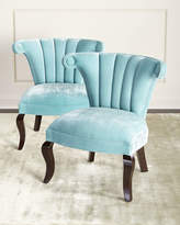Haute House Kylie Channel-Tufted Chairs, Pair
