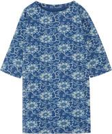 MiH Jeans Island floral-print cotton-chambray mini dress