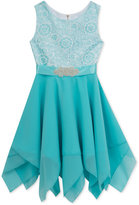 Rare Editions Embroidered Lace Special Occasion Dress, Big Girls (7-16)