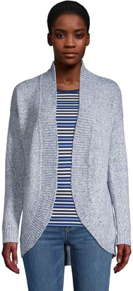 Lands' End Women's Open-Front Cocoon Cardigan Sweater