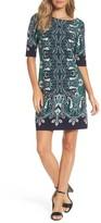 Eliza J Women's Print Elbow Sleeve Shift Dress