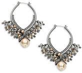 Nanette Lepore Oval Beaded Drop Earrings