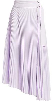 A.L.C. Arielle Pleated Asymmetric Midi Skirt