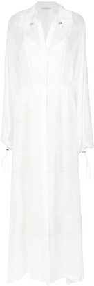 Martha Medeiros maxi shirt dress